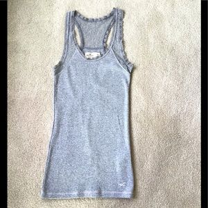 Hollister Grey Lace Top - Size XS